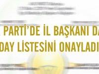 AK Parti Manisa İl Başkanı da aday listesini onayladı