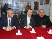 Cumhur ittifakı Akhisar Belediye Başkan Adayı Eryüksel'den parti başkanlarına ziyaret