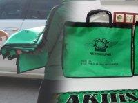 Yeşil Siyah Taraftar Derneği bez poşet dağıtımı