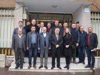 ATSO'dan Ziraat Odası başkanı Akbuğa'ya tebrik ziyareti