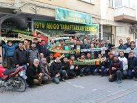 Akhisarspor taraftarı, maç öncesi Alanyaspor taraftarını konuk etti