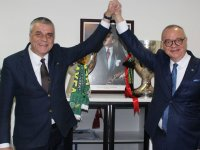 Cumhur ittifakı adayları Eryüksel ve Ergün, Akhisarspor Tesislerinde buluştu