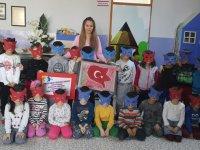 Mustafa Sabiha Göldelioğlu anaokulu, 81 ilde şanlı bayrağım projesine katıldı