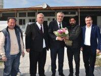 Hüseyin Eryüksel, Karaosmanoğlu ve Recep Akkaya sanayi sitesini ziyaret etti