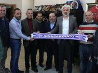 Akhisargücü Spor Kulübünden, Belediye Başkanı Salih Hızlı'ya teşekkür ziyareti