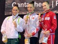 Akhisar'ın Altın Kızı Dünya kupası şampiyonu oldu