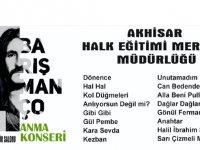 Barış Manço özel anma konseri bu gece Bülent Ciğeroğlu Kültür Salonunda