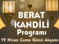 Berat Kandili Akhisar programı açıklandı, İşte program