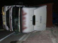 Akhisar'da Medar Mahallesi otoyol kavşağında yine kaza