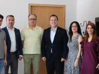 Özel Akhisar Hastanesi'nden Başkan Dutlulu'ya tebrik ziyareti