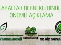 Ziraat Türkiye Kupası final maçı öncesi taraftarlardan önemli açıklama