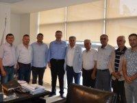 Ziraat Odası'ndan Belediye başkan yardımcılarına ziyaret