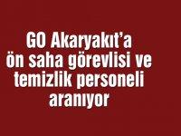 GO Akaryakıt'a ön saha görevlisi ve temizlik personeli aranıyor