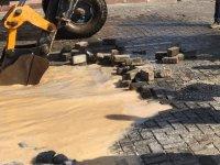 Ana su boru hattı patladı, su kesintisi perişan etti