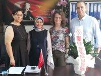 Manisa SMMMO Akhisar ilçe temsilciliği kurumları ziyaret etti