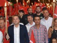 Akhisar'da 30 Ağustos Fener Alayı Coşkusu