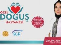 Özel Doğuş Hastanesi'nde diyetisyen Asiye Nur Kuşçu göreve başladı