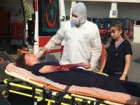 Kimyasal yaralanma tatbikatı gerçeği aratmadı