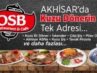 OSB Restaurant, Akhisar'da bir ilk olan yüzde 100 Kuzu Döner'e başladı