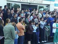 Özel Doğuş Hastanesi çalışanlarından haciz durumuna tepki