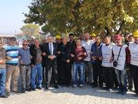 Ahmet Vehbi Bakırlıoğlu, direnişteki madencileri ziyaret etti