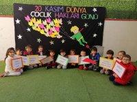 Deniz Anaokulu çocuk hakları gününü kutladı