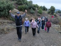 Kış ayının ilk doğa yürüyüşü Sarnıç'ta yapıldı