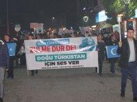 Doğu Türkistanlılar için yürüyüş düzenlendi