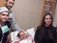 Yılın ilk bebeklerinden Elanur dünyaya geldi