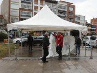 Kızılay tarafından Akhisar'da Elazığ depremi için destek toplama merkezi kurdu