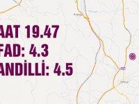 Akhisar'da 4.5 büyüklüğünde deprem