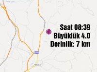 Akhisar güne yine depremle uyandı 08:39'da 4 büyüklüğünde