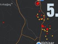 Akhisar'da 19.09'da 5.2 büyüklüğünde deprem meydana geldi