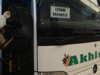 Akhisar Seyahat Otobüsleri virüs tehdidine karşı dezenfekte edildi