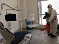 Akhisar Ağız ve Diş Sağlığı Merkezi dezenfekte edildi