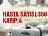 Hasta sayısı 359 hayatını kaybeden 4 kişi oldu