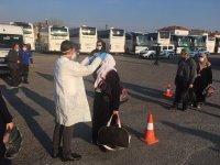 14 günlük karantina bitti, Umreciler Manisa'ya döndü
