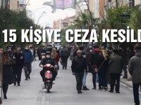 Akhisar'da Sokağa Çıkma Yasağına ve Sosyal Mesafeye Uymayan 15 Kişiye Ceza