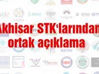Akhisar STK'larından ortak açıklama
