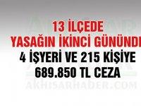 Sokağa çıkma yasağının ikinci gününde 689 bin TL ceza