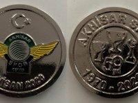 Akhisarspor 50.Yılına Özel gümüş kaplama hatıra madalyalar satışta