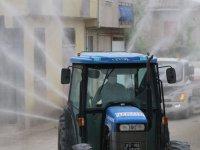Akhisar'da tüm sokaklar ve karantina bölgeleri dezenfekte ediliyor