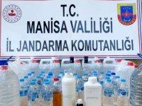 Akhisar'da Jandarmadan sahte alkol imalatına baskın