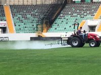 Akhisarspor'da stada lig bakımı