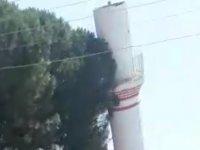Çarşı Camii'nin minaresi yıkıldı
