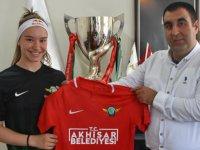 Şampiyon jimnastikçi Ayşe Begüm Onbaşı'dan Akhisarspor'a ziyaret
