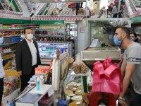 Akhisar'da koronavirüs denetimleri devam ediyor