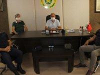 Akhisar Jandarma Komutanı ve Tarım Müdürü ATSO'yu ziyaret etti