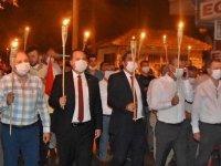 Akhisar'da Zafer Bayramı'nın 98.yıldönümü Fener Alayı
