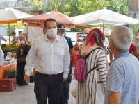 Başkan Dutlulu, maske ve mesafe denetimi yaptı